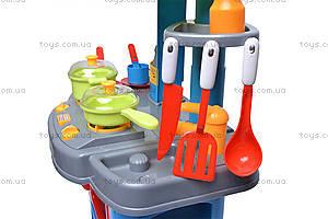 Кухня с микроволновкой и посудой, 008-26A, фото