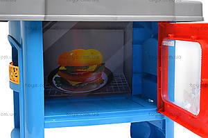 Кухня с микроволновкой и посудой, 008-26A, детские игрушки