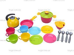 Кухонный набор посуды с плитой, 3572, магазин игрушек
