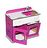 Кухонный стол - мойка (бело-розовая), Б2, купить