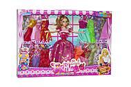 Кукла + 20 нарядов (в розовом платье), 6628F