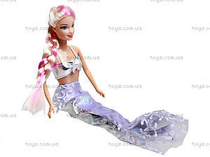 Детская кукла-русалка с аксессуарами, 6051, игрушки
