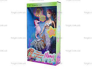 Детская кукла-русалка с аксессуарами, 6051, детские игрушки