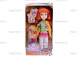Детская кукла Angela с заколками, 1403N, игрушки