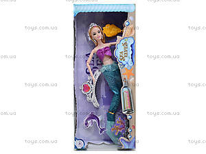 Кукла-русалка с набором украшений, 212B, игрушки
