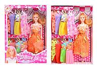 Кукла с набором платьев, 6 видов, 823B, купить
