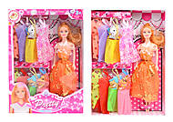 Кукла с набором платьев, 6 видов, 823B, фото