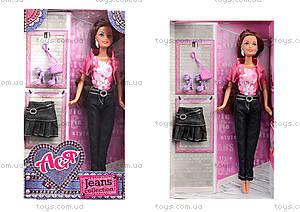 Кукла Ася брюнетка в джинсах, 35090