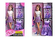 Кукла в фиолетовом платье «Модные цвета», 35075, отзывы
