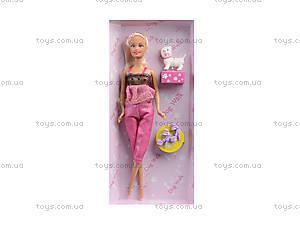 Детская кукла серии «Прогулка с собачкой», 35059, фото