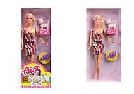 Кукла с собачкой «Блондинка в ярком платье», 35057