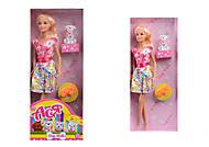 Кукла в платье «Прогулка с собачкой», 35058, купить