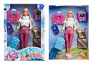 Кукла блондинка с косичками «Путешествие», 35076, фото