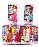 Кукла Барби с набором одежды 6 видов, 9992-C1, фото
