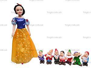 Кукла Белоснежка с гномами, GD38
