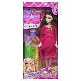 """Кукла беременная  """"Sweet girl"""" в малиновом платье, 0308A, фото"""
