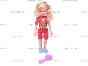 Кукла большая, с расческой, K18-1, купить