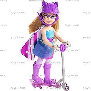 Кукла Челси с самокатом из мультфильма «Barbie Суперпринцесса», CDY68, купить