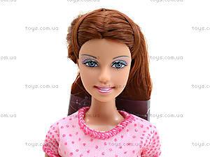 Детская кукла Defa с ребенком и питомцем, 8201, игрушки