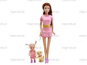 Детская кукла Defa с ребенком и питомцем, 8201, детские игрушки