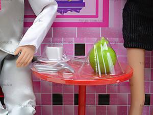 Кукла DEFA «Официантка с посетителем», 8229, детские игрушки