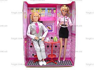 Кукла DEFA «Официантка с посетителем», 8229, магазин игрушек