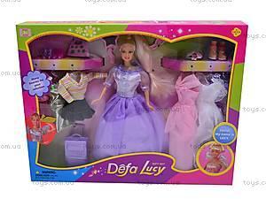 Кукла Defa Lucy, с одеждой, 8001, магазин игрушек