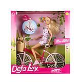 Кукла Defa на велосипеде, 8276, игрушка