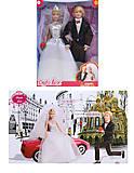 Детская кукла DEFA «Невеста с женихом», 8305, детские игрушки