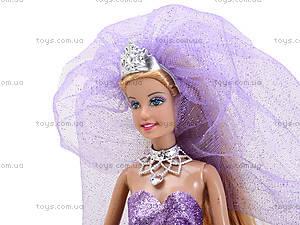 Кукла Defa «Невеста» с подставкой, 8253, игрушки