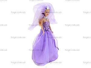 Кукла Defa «Невеста» с подставкой, 8253, детские игрушки