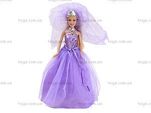 Кукла Defa «Невеста» с подставкой, 8253, магазин игрушек