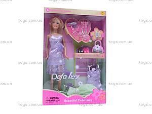 Кукла Defa, с гардеробом, 6077, цена