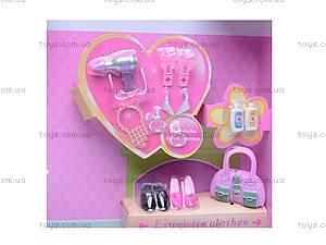 Кукла Defa, с гардеробом, 6077, игрушки