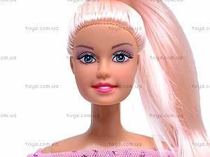 Кукла Defa с гардеробом, 8019, игрушки