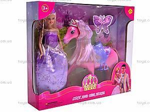 Кукла Defa с лошадью, 8209, игрушки