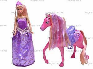 Кукла Defa с лошадью, 8209, детские игрушки