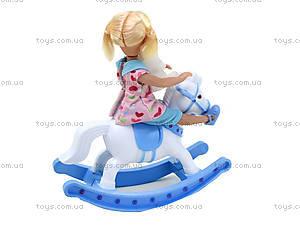 Детская кукла с лошадью-качалкой Defa, 8296, купить