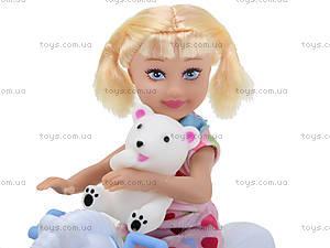 Детская кукла с лошадью-качалкой Defa, 8296, фото