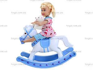 Детская кукла с лошадью-качалкой Defa, 8296, отзывы