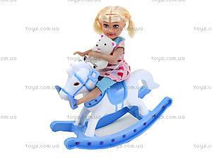 Детская кукла с лошадью-качалкой Defa, 8296, цена