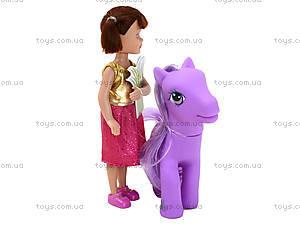 Маленькая кукла Defa «Девочка с пони», 8303, фото