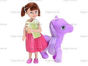 Маленькая кукла Defa «Девочка с пони», 8303, отзывы