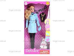 Детская кукла Defa в зимней одежде, 8293, игрушки