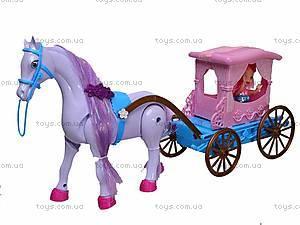 Кукла детская с каретой и лошадью, 686-633