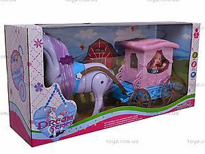 Кукла детская с каретой и лошадью, 686-633, купить