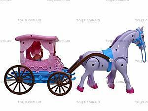 Кукла детская с каретой и лошадью, 686-633, отзывы