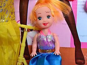 Кукла детская с набором платьев, 0923H, фото
