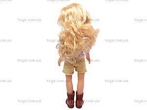 Кукла детская с расческой, 87001, фото