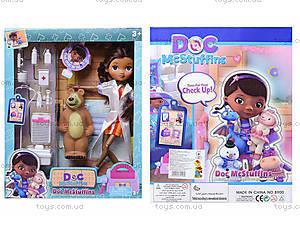 Кукла «Доктор Плюшева» с докторским набором , 8900-4